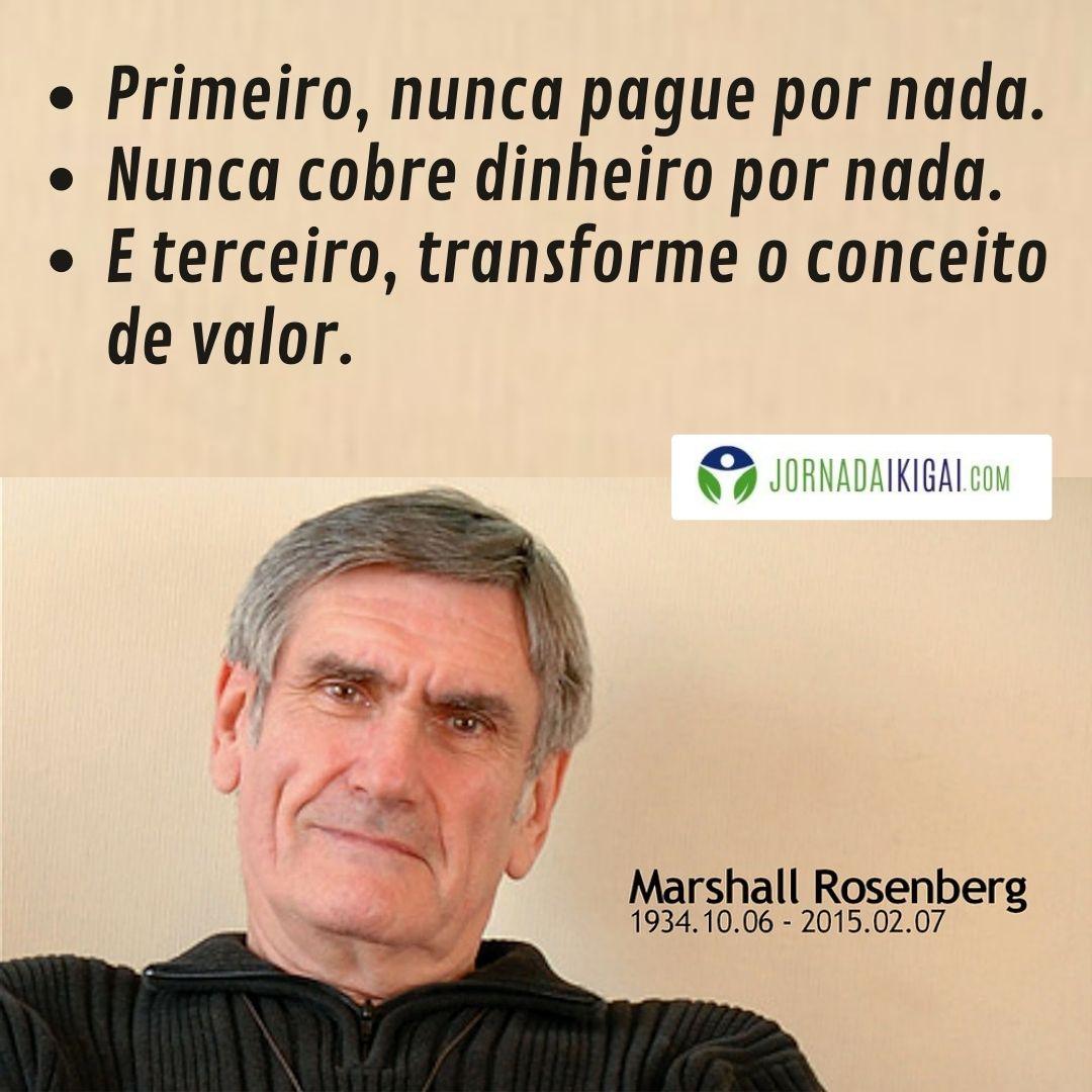 Marshall Rosenberg sobre Comunicação Não Violenta (CNV) e Dinheiro